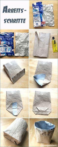 Ich bin im Tetra-Pak-Fieber! Seit ich weiß, dass man aus den Dingern silbernes, kleb- und nähbares, bedruck- und stempelbares Papier machen kann, bin ich nur noch am Kneten. Denn genau so fängt man…