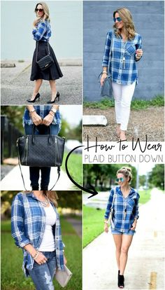 5 Ways to Wear Your Plaid Button Down Shirt