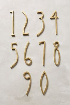 Hand-Welded House Number #anthroregistry