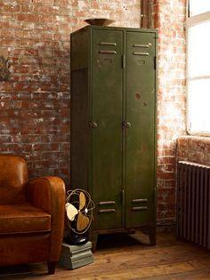 olive green metal locker | furniture + home decor