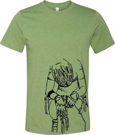 Bicycle T-shirt-FINISH LINE-Road Bike Bike race by SpokeNwheelz