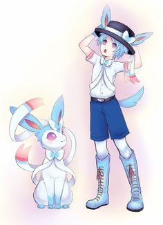 shiny sylveon gijinka | shiny things doodle by joltik92 fan art manga anime digital