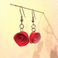 Paper flower earrings by PaperPortrayals on Etsy, $12.00