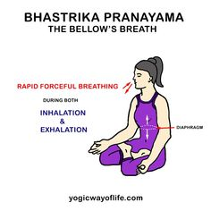 Bhastrika Pranayama or Bellows breath oxygenates the blood and cleans the pranic channels. Bhastrika involves rapid inhalation and exhalation. Bhastrika Pranayama, Kundalini Yoga, Yoga Quotes, Quotes Quotes, Baby Quotes, Girl Quotes, Sister Quotes, Daughter Quotes, Mother Quotes