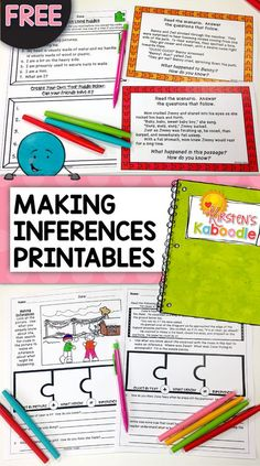 FREE! Are you teaching your students about making inferences? This inferencing product includes various no prep printable activities and worksheets to help students understand how to infer using a variety of strategies. Teacher friendly and engaging for students, you're sure to love it!