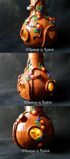 glass decorated with fimo image III by oOMetalbrideOo.deviantart.com