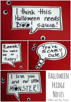 Halloween-Fridge-Notes Halloween At Our House