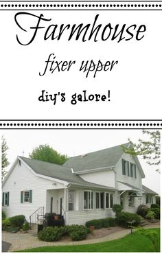 #Farmhouse fixer upper with #diy's and More!