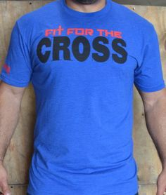 Fit for the Cross crew mens tee. #apparel #crossfitgear #wodclothes