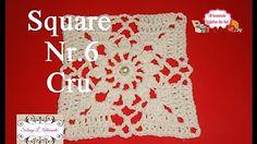 Square em crochê com Argolas por Carine Strieder - YouTube