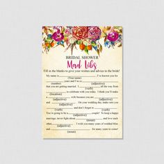 Floral Bridal Shower How Well Do You Know the Bride To Be Game - How Well Do You Know The Bride Printable Game - Purple Bridal  - 0011P