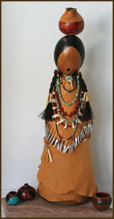Image detail for -... Gourd Art by Norma - Gourd Dolls, Gourd Masks, Gourd Jewelry, Gourd