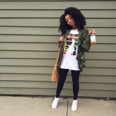 outfits with leggings and vans Chill Outfits, Dope Outfits, Casual Outfits, Fashion Outfits, Hipster Outfits, Black Girl Fashion, Fashion Looks, New Flame, Rocker