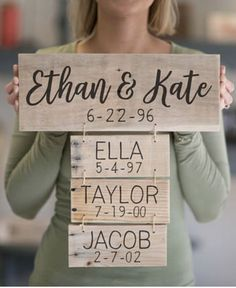 Anniversary Gift | Family Names Wood Sign | Personalized Family Name Signs | Fathers Day Gift | Family Established Sign, family decor, home decor, wall art, wooden personalized decor #ad #affiliatelink #WeddingIdeasForKids