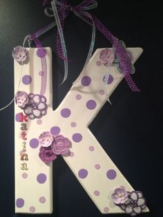 Personalized initial customized with your colors and by Bedotted, $22.50