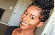 mahoganycurls senegalese twists bun