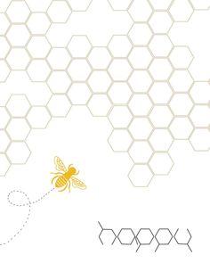 Bee Happy Print. $15.00, via Etsy.
