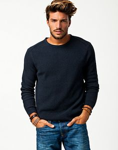 You never go wrong with a plain blue sweater!! The best!