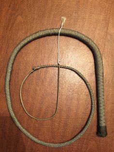 "6' Paracord BullWhip,  Shoot loaded core, 1/4"" steel rod handle 10"" long,   Watch Nickswhipshop How to make a bull whip   https://youtu.be/cXuBs_wYsnI"