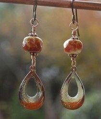 Autumn Harvest earrings by Zing by Cecelia!