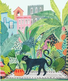 Amber Davenport's Hypnotic Illustrations Welcome You to the Jungle