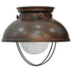 Fisherman Weather Copper Bronze Ceiling Light Fixture | Overstock.com