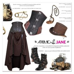 """""""Atomic Jane"""" by janee-oss ❤ liked on Polyvore featuring Overland Sheepskin Co., HADES and atomicjane"""