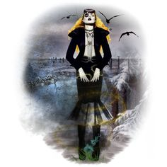 Halloween #22: Bringing Balance by xmikky on Polyvore featuring art