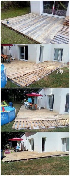 Deck designing of the wood pallet is one of the most demanding ideas which you can carry out while using the old shipping pallets reuse. Deck designing is basically done through the covering of the flat surface of the garden areas. This designing is all done through the basic featuring of the wood pallet plank slats use.