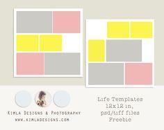 kimla designs | Photoshop Templates for Photographers | Digital Scrapbooking: Project Life | Freebie Life Templates
