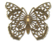 Kabela Design Antique Brass Butterfly Filigree