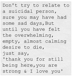 This speaks to me on the deepest level. Thank you for still being here.