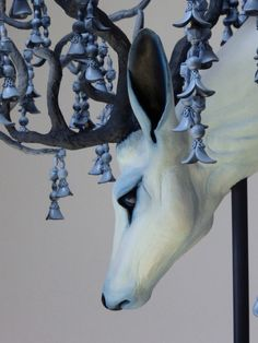 Ghost Sculpture by Natasha Cousens Art Sculpture, Animal Sculptures, Art And Illustration, Fantasy Creatures, Clay Art, Contemporary Art, Drawings, Artwork, Danse Macabre