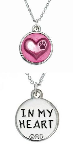 Signs and Plaques 46299: Rockin Doggie Necklace, Heart With Paw And Pink Epoxy, New, Free Shipping -> BUY IT NOW ONLY: $33.56 on eBay!