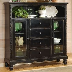 "Hillsdale Wilshire Baker's Cabinet  | Wayfair $1399  67.5"" H x 63.75"" W x 18"" D - Not good dimensions for anywhere we might ""need"" it, but otherwise like the design..."