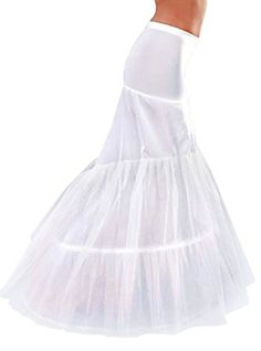 Anna 3 Hoops White Petticoats Wedding Dress Underskirt Slip Mermaid Fishtail For * Learn more by visiting the image link.