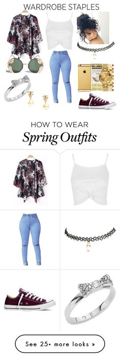 """Spring Outfit"" by lillianag99 on Polyvore featuring Topshop, Converse, Wet Seal, Spitfire, Kate Spade and Chanel"