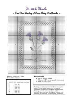 free scottish thistle cross stitch pattern