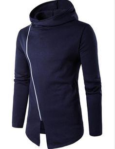2017 Casual Hoodie Men's New Sweatshirt Sleeve Cotton Slim Sportswear Sportswear Men's Hoodies and Sweatshirts S-XXL