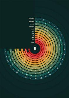 2011 Calendar by Tomek Kowalik, via Behance