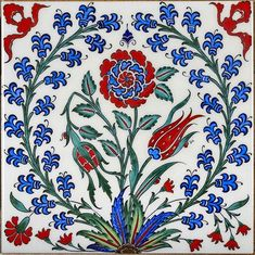 Traditional Turkish Iznik Tile