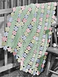 Image detail for -Baby Afghan Hairpin Lace & Crochet Pattern - KarensVariety.com