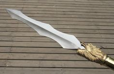Chinese dragon spear,Lance,Stainless steel wave spearhead,Length 82 inch