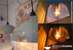 luminaria globo e livro
