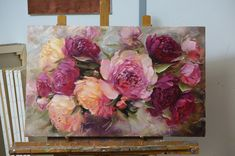 Would love to emulate the petal brushstrokes in this artwork! Acrylic Flowers, Oil Painting Flowers, Abstract Flowers, Paintings I Love, Beautiful Paintings, Art Floral, Wow Art, Acrylic Painting Canvas, Art Pictures
