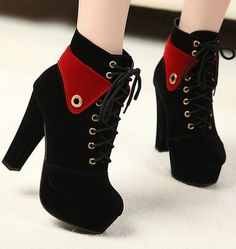 The New Winter Boots, Single Women In Spring And Autumn Fall Shoes Short Boots High Heels Boo. The New Winter Boots, Single Women In Spring And Autumn Fall Shoes Short Boots High Heels Boots Thick W Thick Heel Boots, Thick Heels, Heeled Boots, Ankle Boots, Rough Heels, Pretty Shoes, Cute Shoes, Me Too Shoes, Women's Shoes