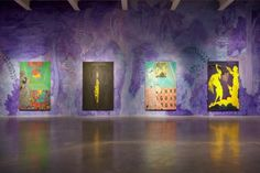 Chris Ofili, installation view, Night and Day exhibition at the New Museum