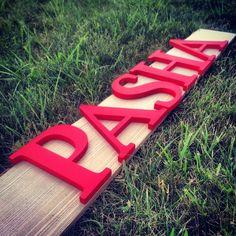 """Деревянные буквы / Wooden letters. Деревянное имя """"Pasha"""", в ярком красном цвете для не менее яркого Павла. Буковки можно ставить или крепить к стене (гвоздичками, двустороннем скотчем).  Высота: 20 см. Стоимость: 360 грн."""