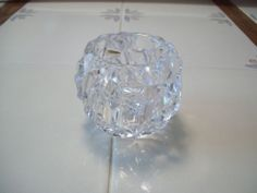 TIFFANY & CO CRYSTAL VOTIVE CANDLE HOLDER CUT ROCK