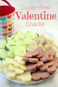 Sugar-Free Valentine Snacks | Two Kids Cooking and More #Valentines Ideas #Valentine Day